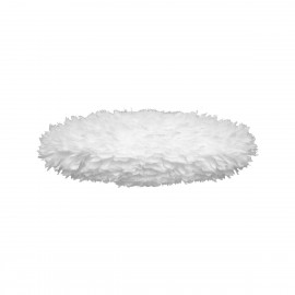 White lamp with feathers Eos ESTHER medium oval 60cm UMAGE