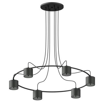 Black pendant lamp TOLJA 6 THORO