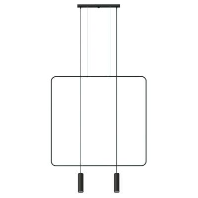 Black hanging lamp RANA 2 square frame THORO