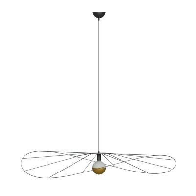 Asymmetric hanging lamp ESKOLA L hat diameter 70cm THORO