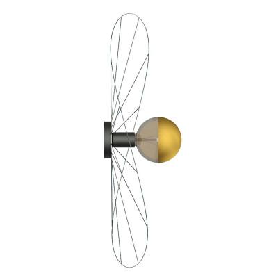 Asymetryczna lampa ścienna kinkiet, lampa sufitowa plafon ESKOLA K kapelusz średnica 70cm THORO