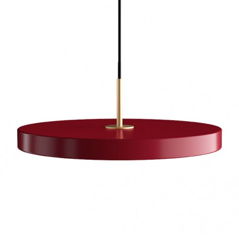 Lampa Asteria ruby red z panelem LED UMAGE (VITA Copenhagen) - bordowy