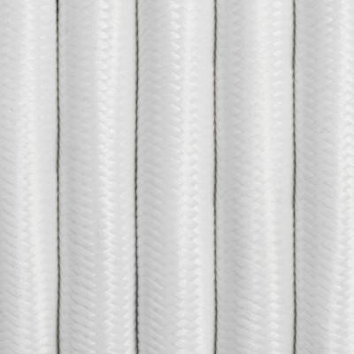 Kabel w oplocie białym poliestrowym trzyżyłowy 3x2,5mm2 Kolorowe Kable