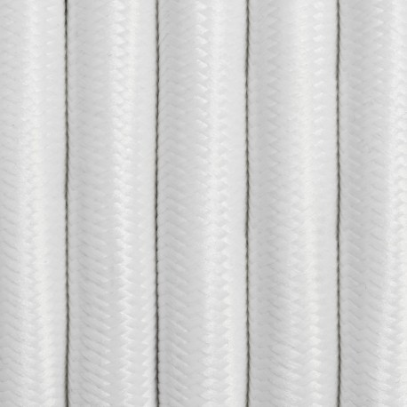 White polyester 3-core braided cable 3x2.5mm2  KOLOROWE KABLE