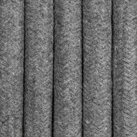 Gray cotton braided cable 3-core 3x2.5mm2  KOLOROWE KABLE