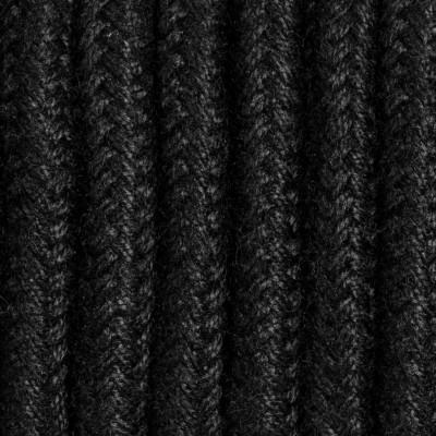 Czarny kabel w oplocie moherowym M10 Jadwiga dwużyłowy 2x0.75 Kolorowe Kable