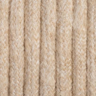 Kremowy kabel w oplocie moherowym M11 Irena dwużyłowy 2x0.75 Kolorowe Kable