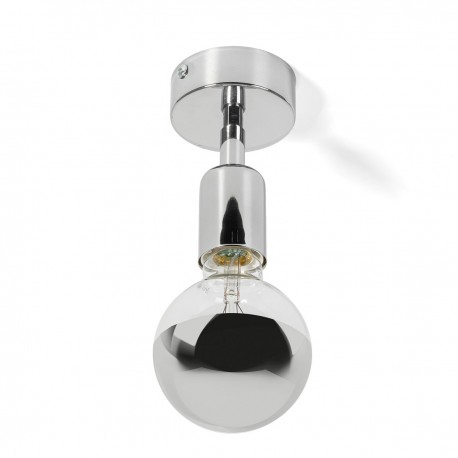 Wall lamp with ceiling mounting option Loft Elite Line Silver wall lamp Kolorowe Kable