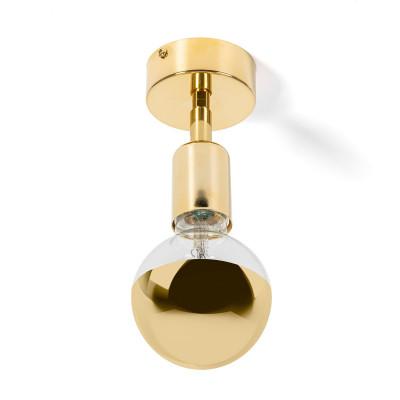 Lampa ścienna z możliwością montażu na suficie Loft Elite Line Gold kinkiet KOLOROWE KABLE