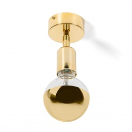 Wall lamp with ceiling mounting option Loft Elite Line Gold wall lamp Kolorowe Kable