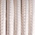 Round electric cable covered by polyester 16 White lilac 4x0.75
