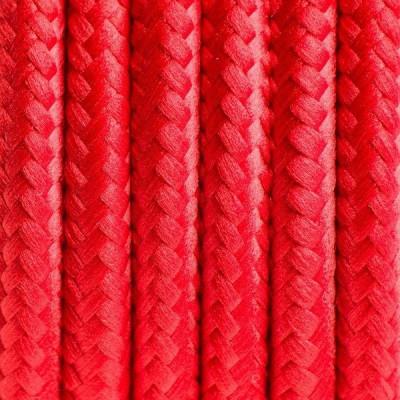 Czerwony kabel w oplocie poliestrowym 04 czerwone chilli trzyżyłowy 3x0.75 Kolorowe Kable