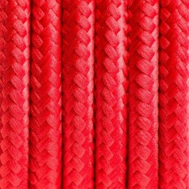 Round electric cable covered by polyester 04 red chilli 3x0.75