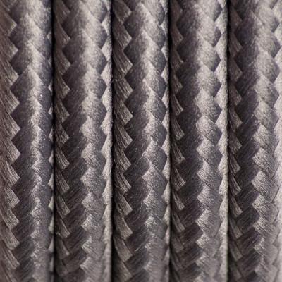 Szary kabel w oplocie poliestrowym 14 szlachetny antracyt trzyżyłowy 3x0.75 Kolorowe Kable