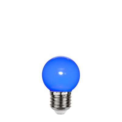 Niebieska plastikowa żarówka do girland LED kulka 45mm 1W niebieska Star Trading