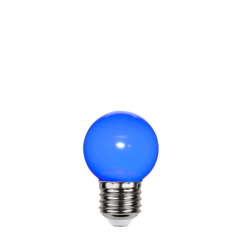 Blue plastic garland light bulb LED 45mm 1W blue Star Trading