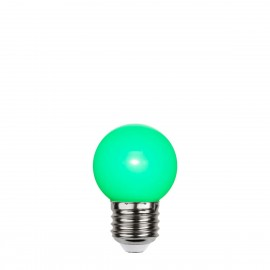 Green plastic garland light bulb LED 45mm 1W green Star Trading