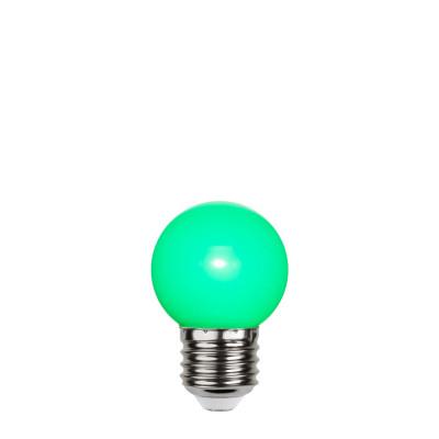 Zielona plastikowa żarówka do girland LED kulka 45mm 1W zielona Star Trading