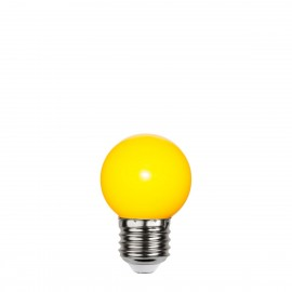 Yellow plastic garland light bulb LED 45mm 1W yellow Star Trading