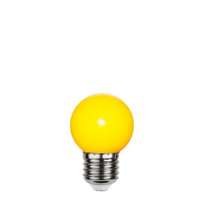 Żółta plastikowa żarówka do girland LED kulka 45mm 1W żółta Star Trading