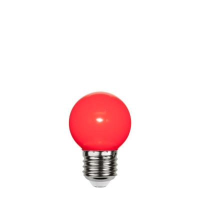 Czerwona plastikowa żarówka do girland LED kulka 45mm 1W czerwona Star Trading