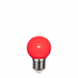 Red plastic garland light bulb LED 45mm 1W red Star Trading