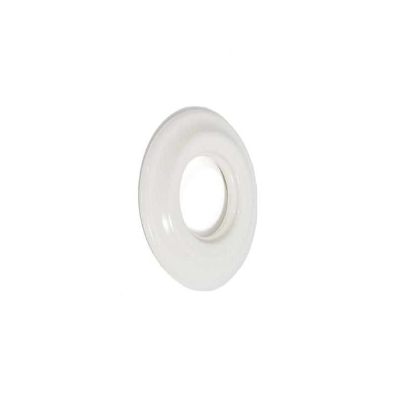 Rustic ceramic frame for flush-mounted equipment - siple white frame Kolorowe Kable
