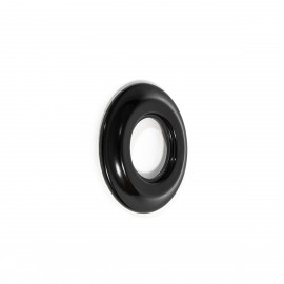Rustykalna ceramiczna ramka do osprzętu podtynkowego - ramka pojedyncza czarna Kolorowe Kable