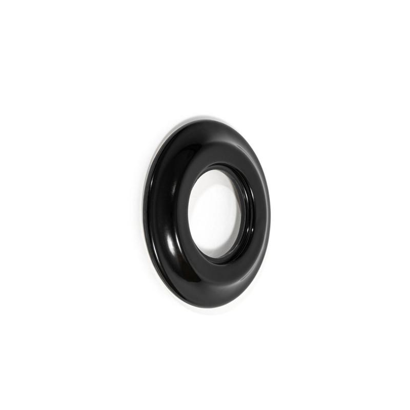 Rustic ceramic frame for flush-mounted equipment - simple black frame Kolorowe Kable