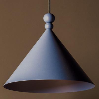 Niebieska lampa wisząca KONKO MONO Dirty Pink średnica klosza LOFTLIGHT
