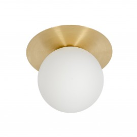 Wall lamp BORRA A modern sconce with brass disk UMMO