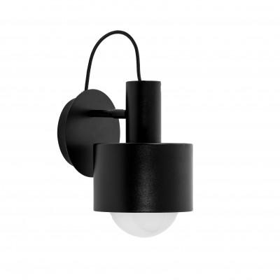 ENKEL Czarna lampa ścienna / KINKIET