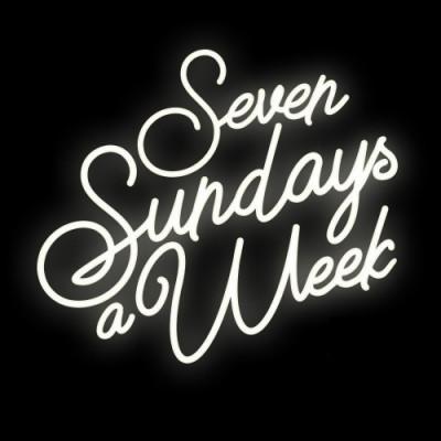 Świecący napis Seven Sunday's a week 85cm x 75cm Ledon TWÓRCZYWO