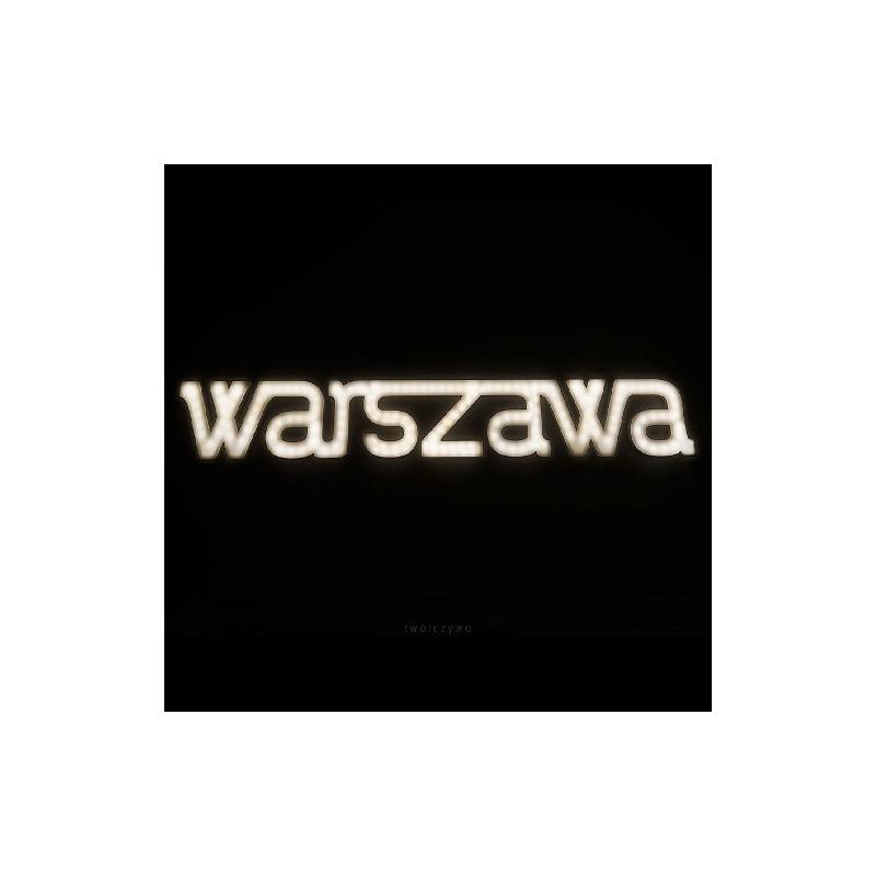 Illuminated lettering WARSZAWA Ledon lamp Twórczywo