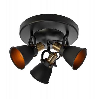 Lampa ALTON Sufitowa 3L czarna MARKSLOJD