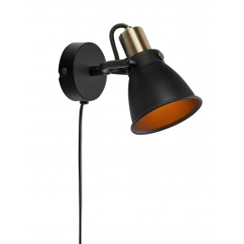ALTON Wall lamp 1L black MARKSLOJD