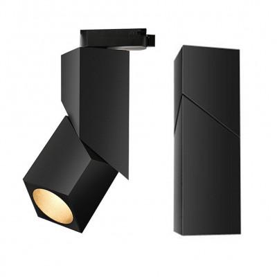 Plafon BLOCK 15W BL czarny kinkiet Led, aluminium Auhilon Deco Lighting