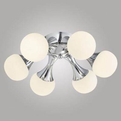 Ceiling lamp 3-point, Ceiling lamp ATOMIC 3L C1205-3 Led, white balls, Auhilon