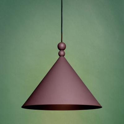 Fioletowa lampa wisząca KONKO Sparrow średnica klosza 30cm LOFTLIGHT
