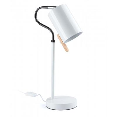 Table lamp ELSA 1L WH Desk lamp LS-MT1336-WHITE Auhilon