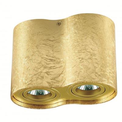 Plafon TUBA NERO 2L GOLD kinkiet Led, C1234-2L GOLD metalowy, złoty Auhilon