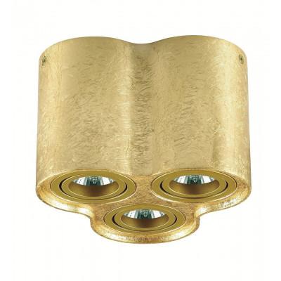 Plafon TUBA NERO 3L GOLD kinkiet Led, C1234-3L GOLD metalowy, złoty Auhilon