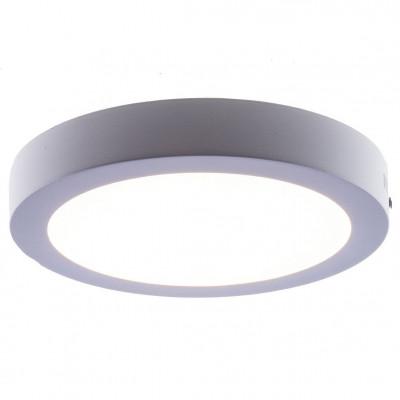 LAMPA sufitowa ,Plafon RING 18W WH, natynkowa OPRAWA okrągła LED 3000K plafon biały, YP003-18W-W Auhilon