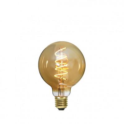 DECOLED SPIRAL AMBER bursztynowa żarówka LED ściemnialna G95 3,5W 2000K Star Trading