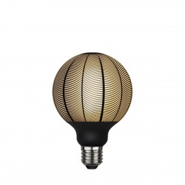 LED GRAPHIC lamp milky decorative LED bulb with black pine pattern G95 4W 2700K Star Trading