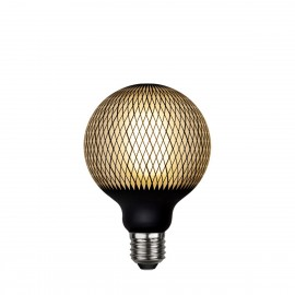 LED GRAPHIC lamp milky decorative LED bulb with black diamond pattern G95 4W 2700K Star Trading