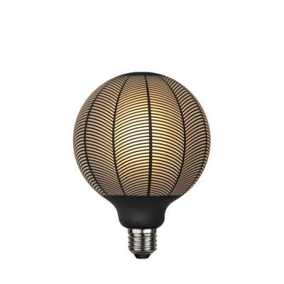 Lampa LED GRAPHIC mleczna żarówka dekoracyjna LED z czarnym wzorem jodełka G125 4W 2700K Star Trading