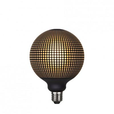 Lampa LED GRAPHIC mleczna żarówka dekoracyjna LED z czarnym wzorem kropki G125 4W 2700K Star Trading