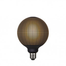 LED GRAPHIC lamp milky decorative LED bulb with black dots pattern G125 4W 2700K Star Trading