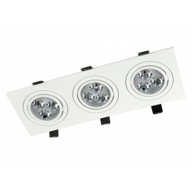 TRIPLO III BL recessed luminaire with MD-6303-BLACK Auhilon mesh